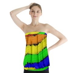 Rainbow Strapless Top