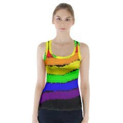 Rainbow Racer Back Sports Top by Valentinaart