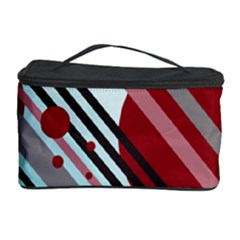 Colorful Lines And Circles Cosmetic Storage Case by Valentinaart