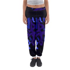 Deep Blue Abstraction Women s Jogger Sweatpants by Valentinaart