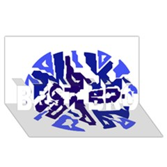 Deep Blue Abstraction Best Bro 3d Greeting Card (8x4)  by Valentinaart