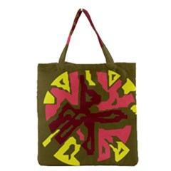 Abstraction Grocery Tote Bag by Valentinaart