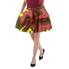 Abstraction A Line Pocket Skirt
