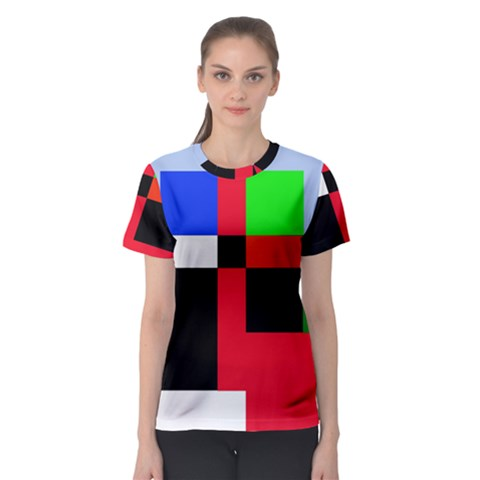 Colorful Abstraction Women s Sport Mesh Tee by Valentinaart
