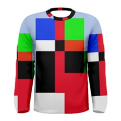 Colorful Abstraction Men s Long Sleeve Tee by Valentinaart