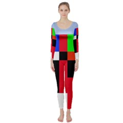 Colorful Abstraction Long Sleeve Catsuit by Valentinaart