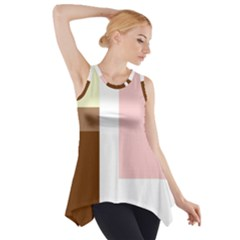 Colorful Abstraction Side Drop Tank Tunic