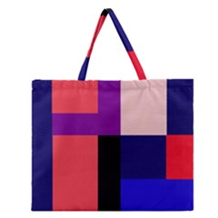 Colorful Abstraction Zipper Large Tote Bag by Valentinaart