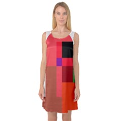 Colorful Abstraction Sleeveless Satin Nightdress by Valentinaart