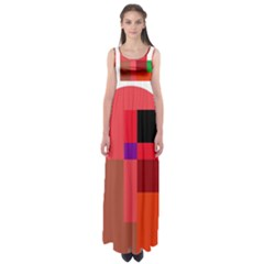 Colorful Abstraction Empire Waist Maxi Dress by Valentinaart