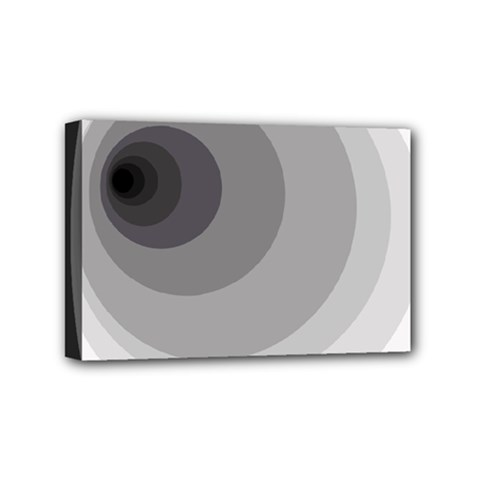 Gray Abstraction Mini Canvas 6  X 4  by Valentinaart