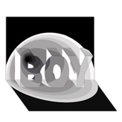 Gray Abstraction Boy 3d Greeting Card (7x5)