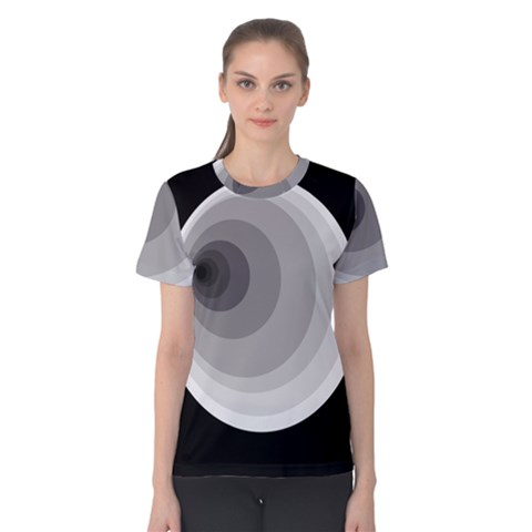 Gray Abstraction Women s Cotton Tee by Valentinaart