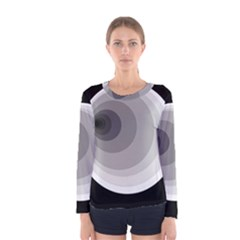 Gray Abstraction Women s Long Sleeve Tee by Valentinaart