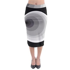 Gray Abstraction Midi Pencil Skirt by Valentinaart