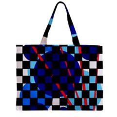Blue Abstraction Mini Tote Bag by Valentinaart