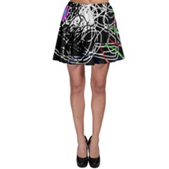 Neon Fish Skater Skirt by Valentinaart