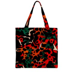 Metallic Shapes In Retro Colors                                                                                      Grocery Tote Bag by LalyLauraFLM