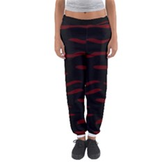 Red And Black Women s Jogger Sweatpants by Valentinaart