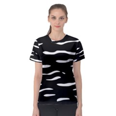 Black And White Women s Sport Mesh Tee by Valentinaart