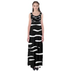 Black And White Empire Waist Maxi Dress by Valentinaart