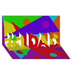Colorful Abstract Design #1 Dad 3d Greeting Card (8x4)  by Valentinaart