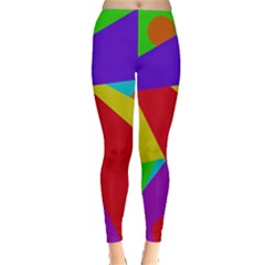 Colorful Abstract Design Leggings  by Valentinaart