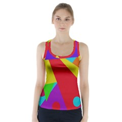Colorful Abstract Design Racer Back Sports Top by Valentinaart