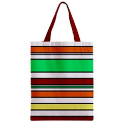 Green, Orange And Yellow Lines Zipper Classic Tote Bag by Valentinaart