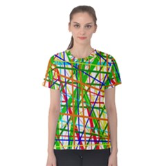 Colorful Lines Women s Cotton Tee by Valentinaart