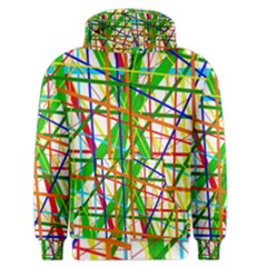 Colorful Lines Men s Zipper Hoodie
