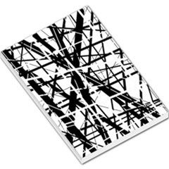 Black And White Abstract Design Large Memo Pads by Valentinaart