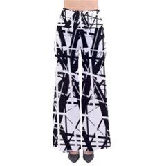Black And White Abstract Design Pants by Valentinaart