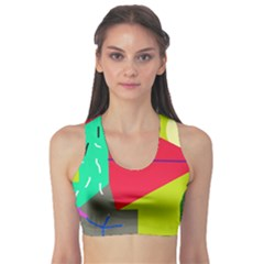 Abstract Bird Sports Bra by Valentinaart
