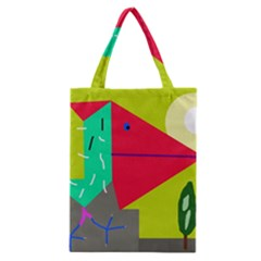 Abstract Bird Classic Tote Bag by Valentinaart