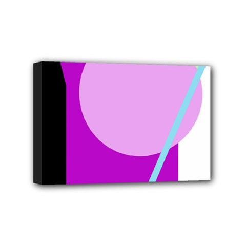 Purple Geometric Design Mini Canvas 6  X 4  by Valentinaart