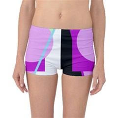 Purple Geometric Design Boyleg Bikini Bottoms by Valentinaart