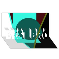 Geometric Abstract Design Best Bro 3d Greeting Card (8x4)  by Valentinaart