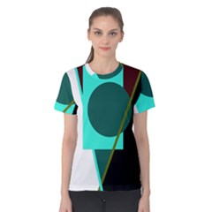 Geometric Abstract Design Women s Cotton Tee by Valentinaart