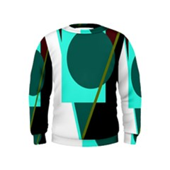 Geometric Abstract Design Kids  Sweatshirt by Valentinaart