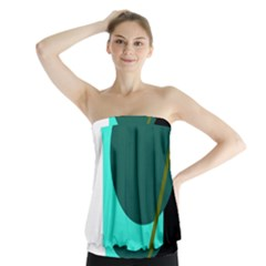 Geometric Abstract Design Strapless Top