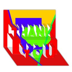 Colorful Geometric Design Thank You 3d Greeting Card (7x5)  by Valentinaart