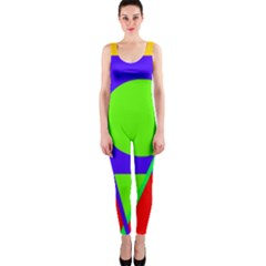 Colorful Geometric Design Onepiece Catsuit by Valentinaart