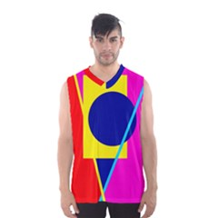 Colorful Geometric Design Men s Basketball Tank Top by Valentinaart