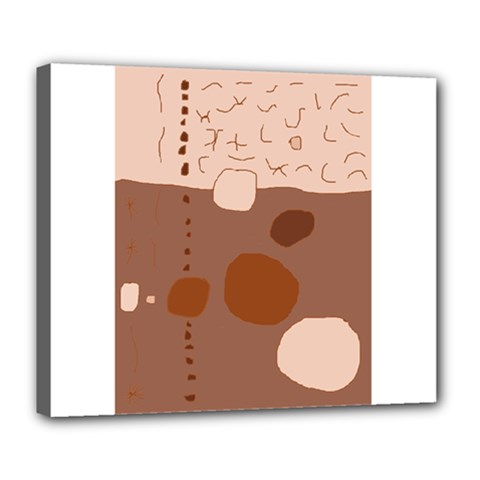 Brown Abstract Design Deluxe Canvas 24  X 20   by Valentinaart