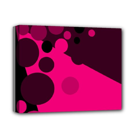 Pink Dots Deluxe Canvas 14  X 11  by Valentinaart