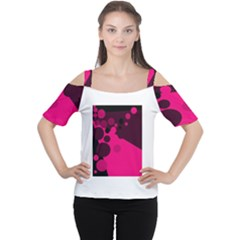 Pink Dots Women s Cutout Shoulder Tee by Valentinaart