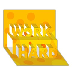 Abstract Sun Work Hard 3d Greeting Card (7x5)  by Valentinaart