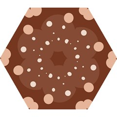 Brown Abstract Design Mini Folding Umbrellas by Valentinaart