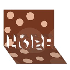 Brown Abstract Design Hope 3d Greeting Card (7x5)